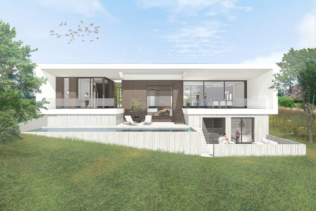 Maison Individuelle Contemporaine Architecte Ocube Maisons D Architecte Bbc Rhone Alpes