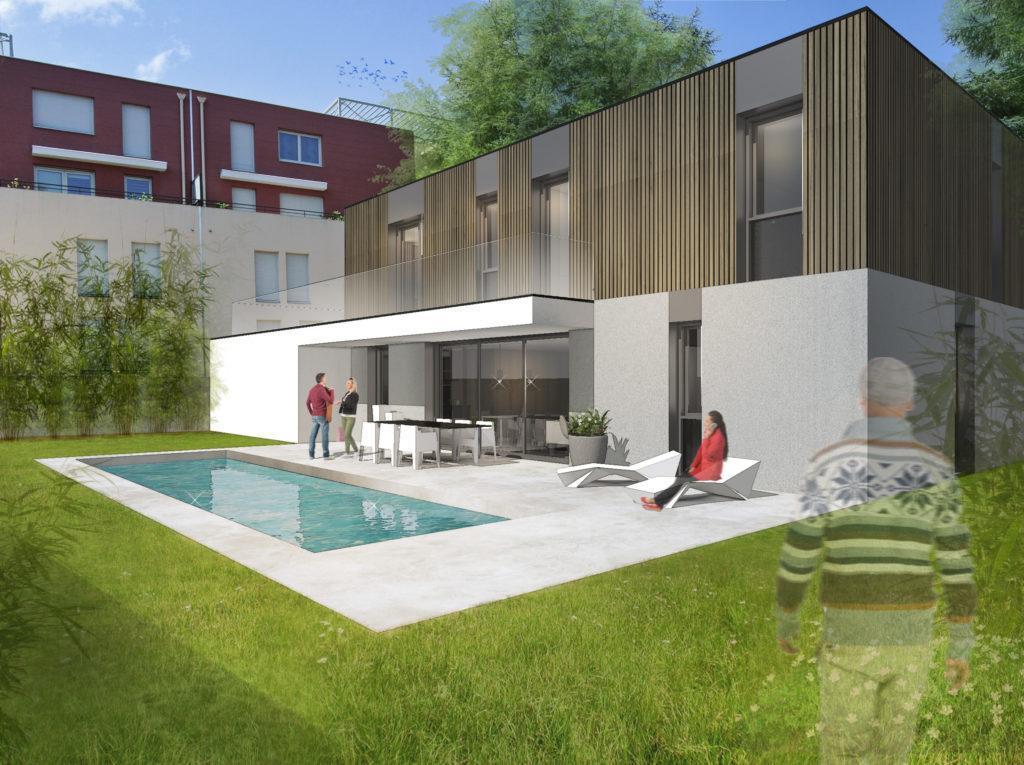 maison contemporaine RT 2012 Lyon